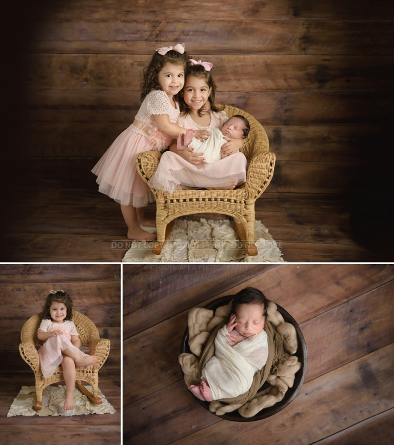 artistic sibling with newborn photographer