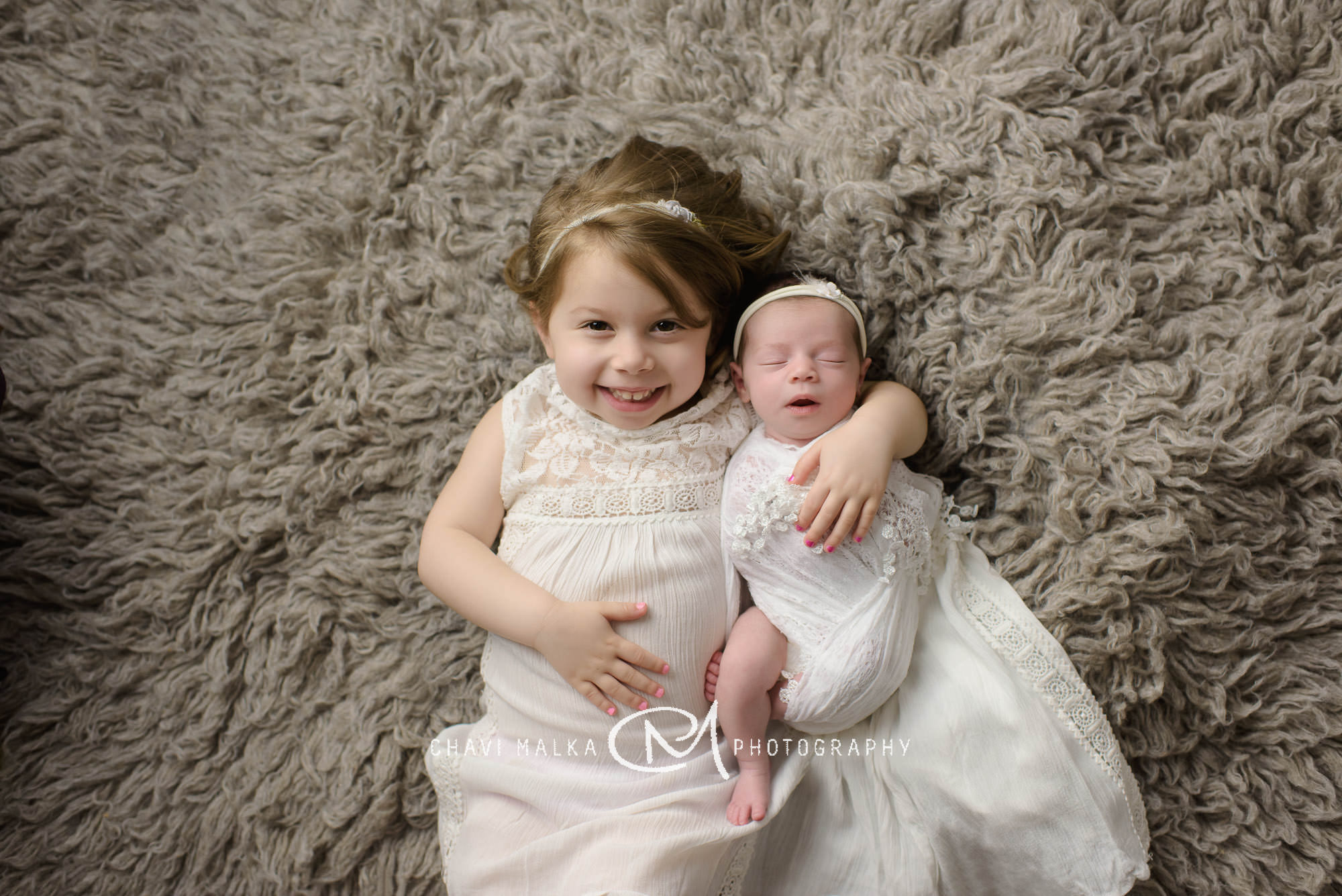 Manhasset Newborn Photographer | Precious Little Sisters